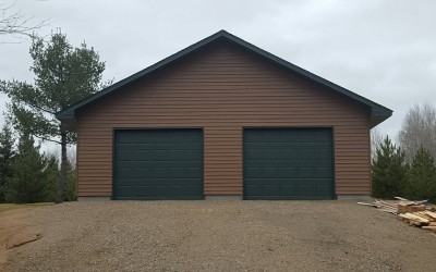 32′ x 40′ Two Door Garage