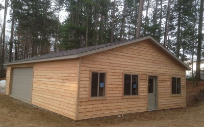 Multi-Use Cedar Garage